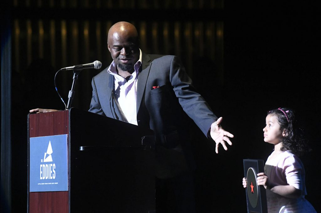 Artists perform and winners accept awards during The Eddies, the first annual celebration of Capital Region music at Proctors Sunday, April 14, 2019.